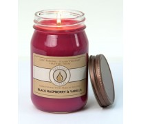 Black Raspberry & Vanilla Traditional Canning Jar Candle