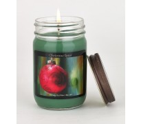 Christmas Tree Ornament Canning Jar Candle