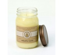 Pineapple Slices Traditional Canning Jar Candle