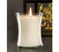 White Cotton Hour Glass Jar Candle