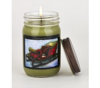 Balsam Fir Christmas Sleigh Canning Jar Candle
