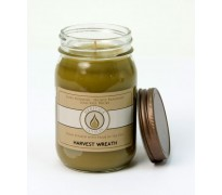 Harvest Wreath Traditional Canning Jar Candle