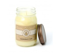 Lemongrass and Sage Traditional Canning Jar Candle