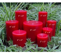 Red Unscented Pillar