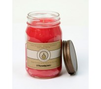 Strawberry Traditional Canning Jar Candle