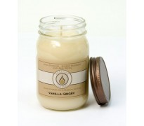 Vanilla Ginger Traditional Canning Jar Candle