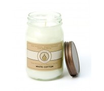 White Cotton Traditional Canning Jar Candle